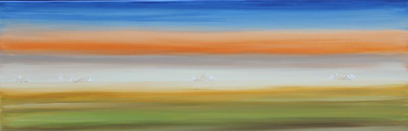Strangeland dreams, acryl/canvas, 50x150